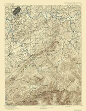 Historical Topographic Maps - KNOXVILLE SHEET TENNESSEE (TN/NC) USGS 1892