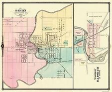 Historic City Maps - BERLIN AND PLYMOUTH WISCONSIN (WI) MAP 1878