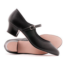 Black Character Buckle Stage Showtime Leather Ballet Dance Shoes By Katz