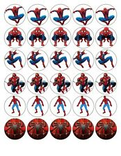 30 X SPIDERMAN TOP QUALITY EDIBLE WAFER/RICE PAPER CUP CAKE TOPPERS