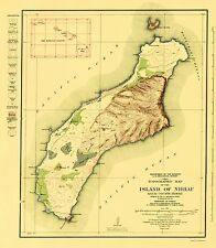 Topographical Map Print - Niihau Island Hawaii - USGS 1929 - 23 x 26.38