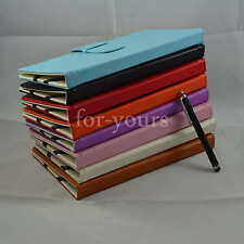 "Colorful Folio PU Leather Case+Stylus For 7"" Huawei S7 Slim/Mediapad 7 Lite Tab"