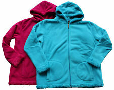 Ladies Thick Winter Bonded Fur Polar Fleece Hooded Jacket Size 18-24 (8116)