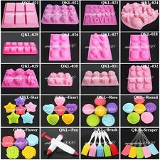 Silicone Mould Mold Ice Cube Tray Chocolate Cake Muffin Soap Cupcake Molds DIY