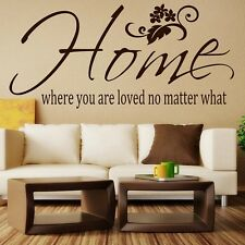 Home where you are loved no matter what** - Wall Quote Sticker - Art Decor