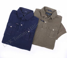 Tommy Hilfiger Men Logo Slub Garment Polo Shirt Custom Fit - Free $0 Shipping