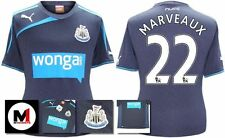 *13 / 14 - PUMA ; NEWCASTLE UTD AWAY SHIRT SS + PATCHES / MARVEAUX 22 = SIZE*