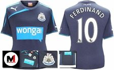 *13 / 14 - PUMA ; NEWCASTLE UTD AWAY SHIRT SS + PATCHES / FERDINAND 10 = KIDS*