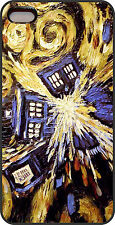 New Doctor Who Tardis Van Gogh  iPhone 4S 4 4G or 5 PLASTIC Case Cover