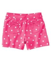GYMBOREE SHOWERS OF FLOWERS PINK  w/ DOTS KNIT SHORTS 3 6 7 10 NWT