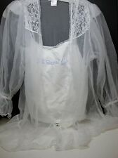 "Cinema Etoile - Sexy Seductive Wear - White ""Just Married"" Teddie BNWT's"