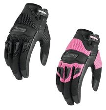 Icon Womens Twenty-Niner Goatskin Palm Motorcycle Gloves 29er