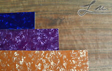Lu Luthier 3-Ply Guitar PICKGUARD BLANK Material (Blue Purple Gold Pearl)