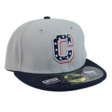 CLEVELAND INDIANS New Era 5950 Stars and Stripes 4th of July Fitted Hat