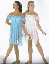 Angels Lyrical Ballet Dance Christmas Costume White Blue Child Medium & Large
