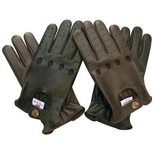 BRAND NEW TOP QUALITY REAL SOFT LEATHER MENS DRIVING GLOVES BLACK BROWN TAN 502