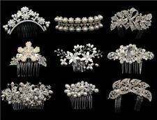 STUNNING BRIDAL WEDDING CRYSTAL RHINESTONES DIAMANTE HAIR COMB CLIP