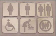Acrylic Toilet Sign Male, Female, Unisex, Disabled, Baby Change, No Toilets