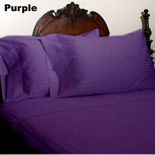 USA ROYAL BEDDING COLLECTION 1200TC 100% EGYPTIAN COTTON PURPLE STRIPE ALL SIZE