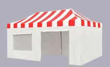 3M X 6M Striped PRO-40 Heavy Duty Pop Up Canopy Instant Gazebos Quick Marquee