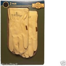 NEW 2 Pairs Plainsman General Garden Work Leather Gloves X Large Medium Small