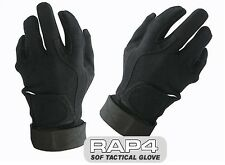 SOF Tactical Assault Gloves (Full Finger - Black) Ideal for Paintball Airsoft