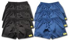6 PACK SATIN BOXER SHORTS NAVY BLACK GREY SIZES AVAILABLE L L XL XXL XXL XXL XL