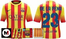 *13 / 14 - NIKE ; BARCELONA AWAY SHIRT SS / DE LA PENA 23 = KIDS & JUNIOR SIZE*