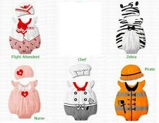 Baby Infant Toddler Variou Boy Girl Costume Bodysuit w Hat Outfits 3 - 18 months