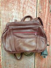 Womens Handmade Maroon Leather Concealed Carry Pistol Shoulder Purse