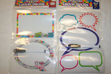 Dry Erase Locker Decals w/ Marker * Two kinds to choose from * Removable