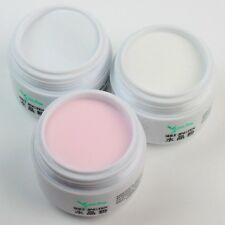 Clear White Pink Professional Basic Acrylic Polymer Powder 3D Nail Art Manicure