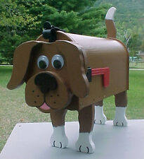 BROWN DOG MAILBOX CUSTOM ANIMAL MAILBOXES MUTT DOGS POSTAL MAIL BOX