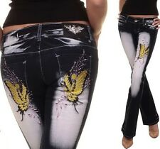 Crazy Age Bootcut Jeans YELLOW BUTTERFLY II - 24/26/28/30/32 (XS/S/M/L/XL)