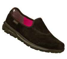 SKECHERS SHOES 13511 EW EXTRA WIDE GO WALK WOMEN NEW BROWN SLIP ON LOAFER SUEDE