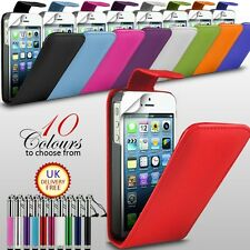 PREMIUM SOFT PU LEATHER FLIP CASE COVER+SCREEN PROTECTOR FOR APPLE IPHONE 5 5S