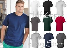 Hanes TAGLESS T-Shirt with a Pocket 5590 S-3XL Short Sleeve