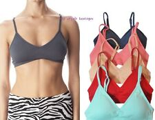SEAMLESS  PLUNGE  V  SPORTS BRA,  CROP TANK  TOP,  LIGHT BRA PAD