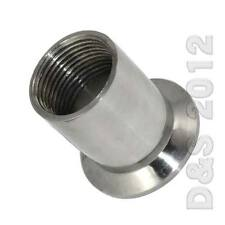 "1/2"" to 2"" Sanitary Female Threaded Ferrule Pipe Fitting to Tri Clamp NPT SS316"