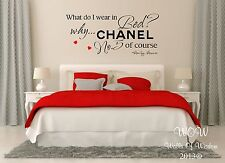 Marilyn Monroe Bedroom Sexy Adult Quote Wall Sticker / Wall Art Home Decor