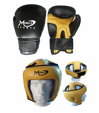 MUKI-1 SET OF 2 MMA TRAINING THAI BOXING GLOVES +  HEAD GUARD