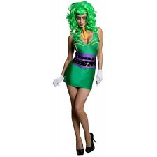 The Joker Costume for Women Sexy DC Comics Super Villain Halloween Fancy Dress
