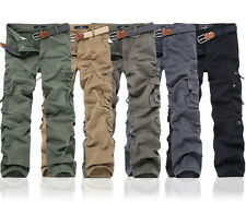 New Fashion Casual Mens Military Army Cargo Camo Combat Work Trousers Pants Cool