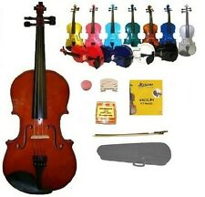New VIOLIN,Case,Bow,2Sets Strings,2 Bridges,Tuner,Student Band School Orchestra