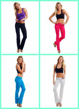 WOMEN'S JUNIORS CUTE COMFY YOGA FITNESS LONG PANTS ATHLETIC WORK OUT GYM WEAR