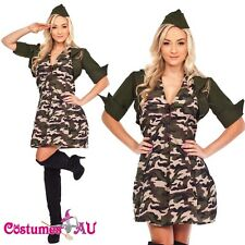 Military Police Army Soldier Fancy Dress Party Costume Valentines Day Outfit+Hat