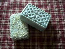 Hand Made Goat Milk Soap with Loofah and Ground Walnut Shells gardeners painters