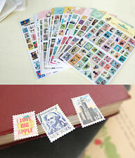 7321 Design Stamp Sticker Ver.3 Scrapbooking Stickers Embellishments x 4 Sheets