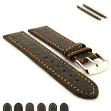 Mens Genuine Leather Replacement Watch Strap Band Kana SS. Buckle Spring Bars