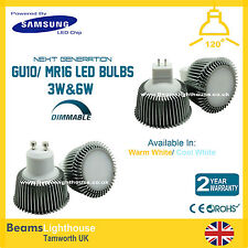 MR16/GU10 3W 6W DIMMABLE Samsung LED SMD 12V/240V Spotlight Lamps Bulbs WW/CW